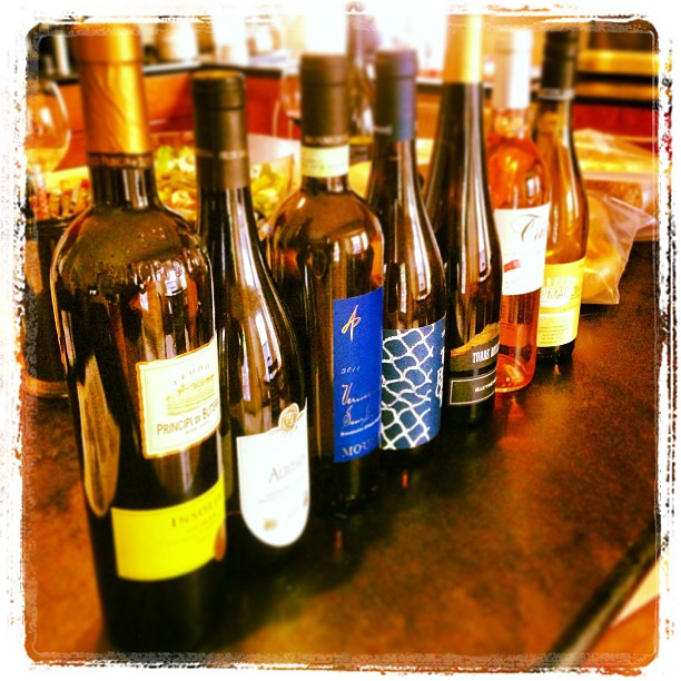 Array of white wines