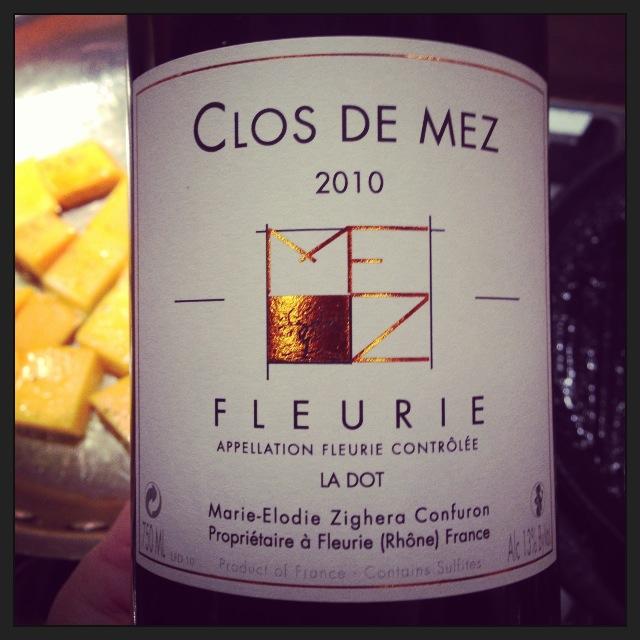 """2010 Clos de Mez Fleurie """"La Dot"""