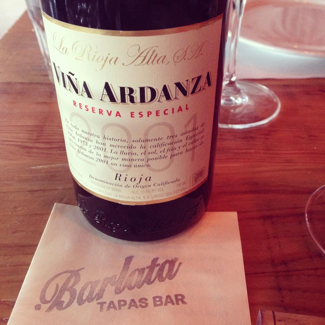 2001 La Rioja Alta Rioja Viña Ardanza Reserva Especial