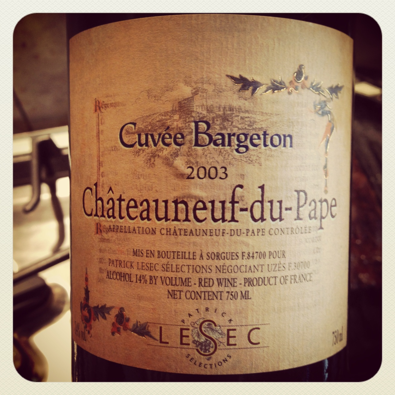 2003 Lesec CdP Cuvee Bargeton