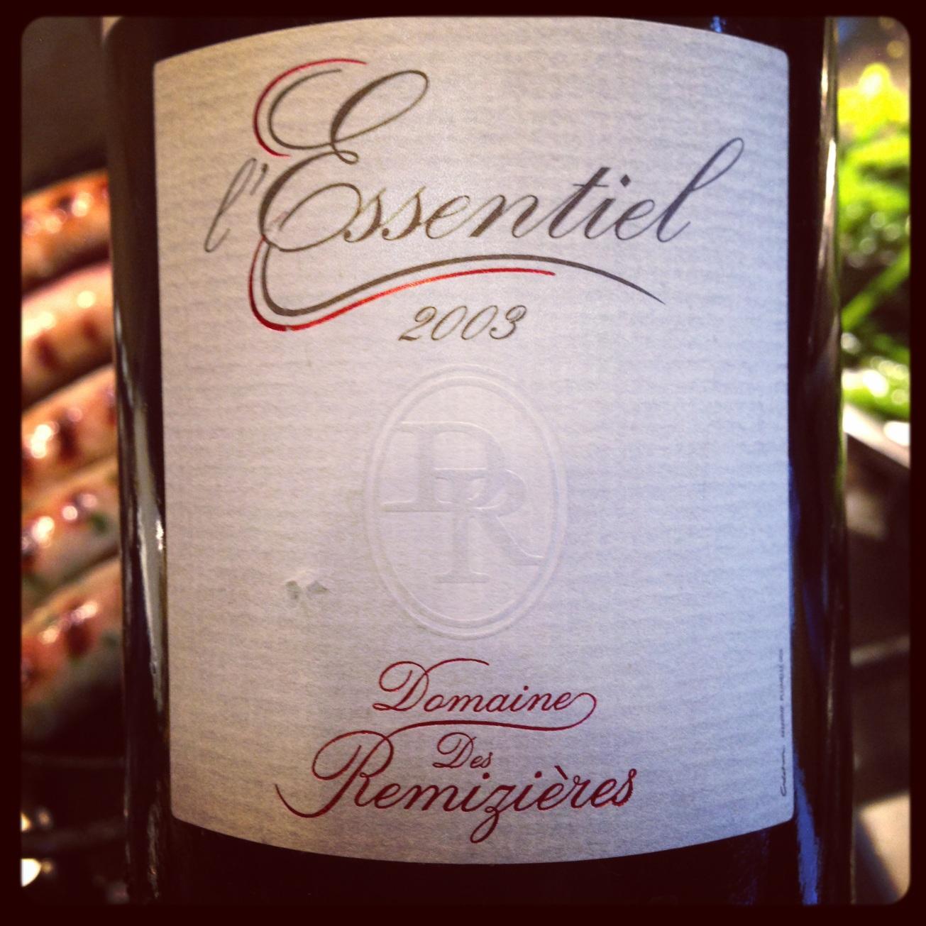 2003 Remizieres Saint Joseph L'Essentiel