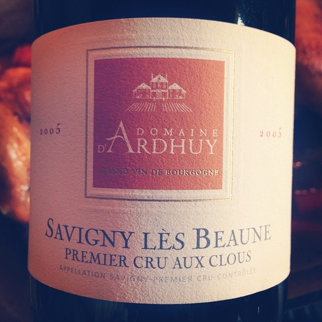 """2005 Domaine d'Ardhuy Savigny Les Beaune 1er Cru """"Aux Clous"""""""