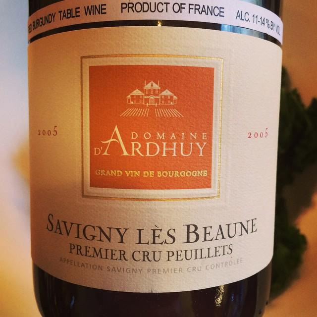 2005 Domaine d'Ardhuy Savigny-lès-Beaune 1er Cru Les Peuillets