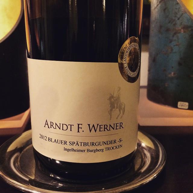 2012 Arndt F Werner Blauer Spaetburgunder -S- Ingelheimer Burgberg trocken