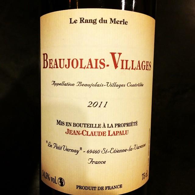 2011 Jean-Claude Lapalu Beaujolais-Villages Le Rang du Merle