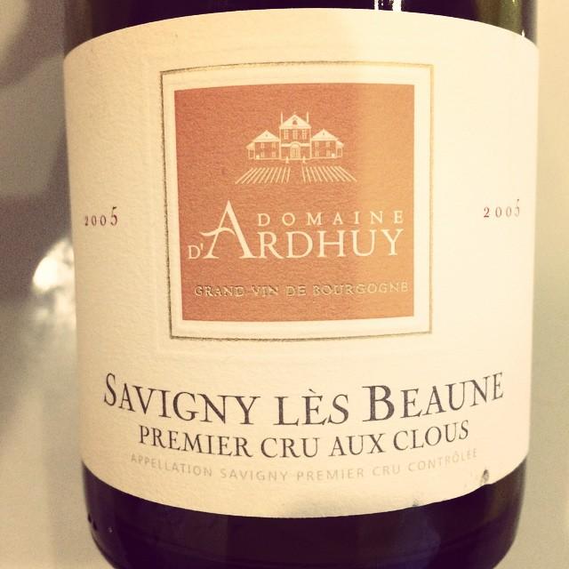 2005 Domaine d'Ardhuy Savigny-lès-Beaune 1er Cru Aux Clous