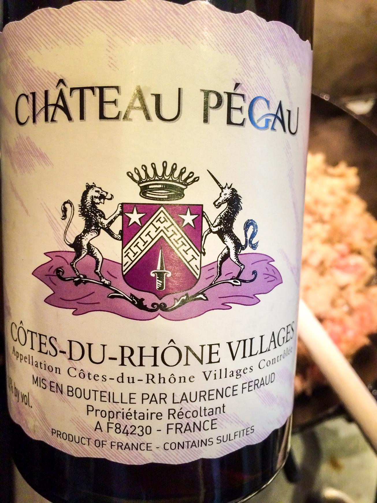 2013 Château Pegaü Côtes du Rhône Villages Cuvée Setier