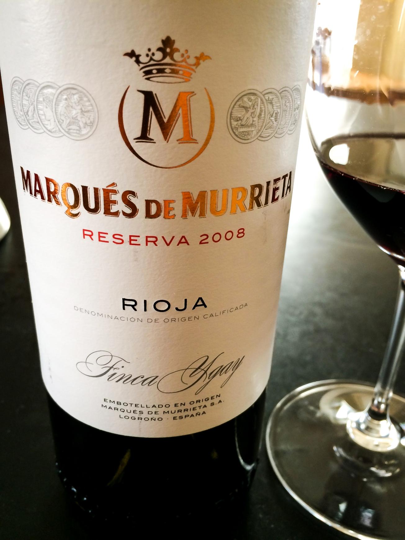 2008 Marqués de Murrieta Rioja Reserva