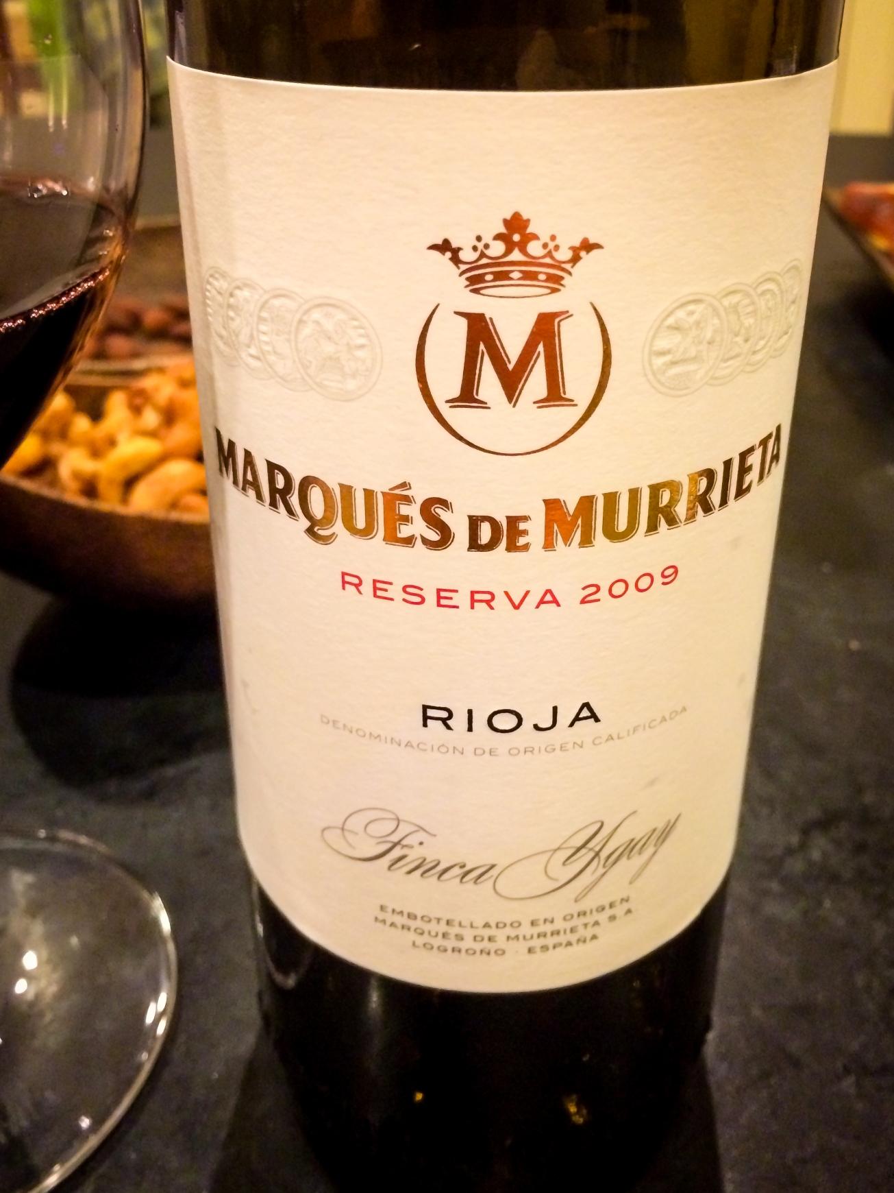 2009 Marqués de Murrieta Rioja Ygay Reserva