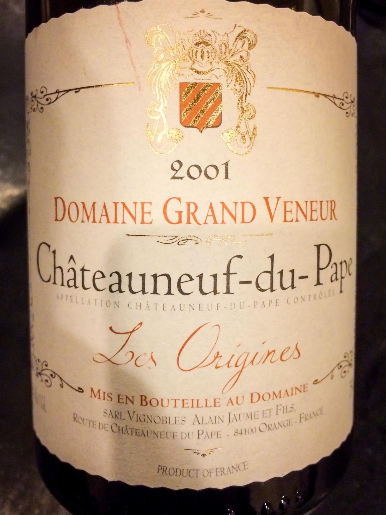 2001 Domaine Grand Veneur Châteauneuf-du-Pape Les Origines