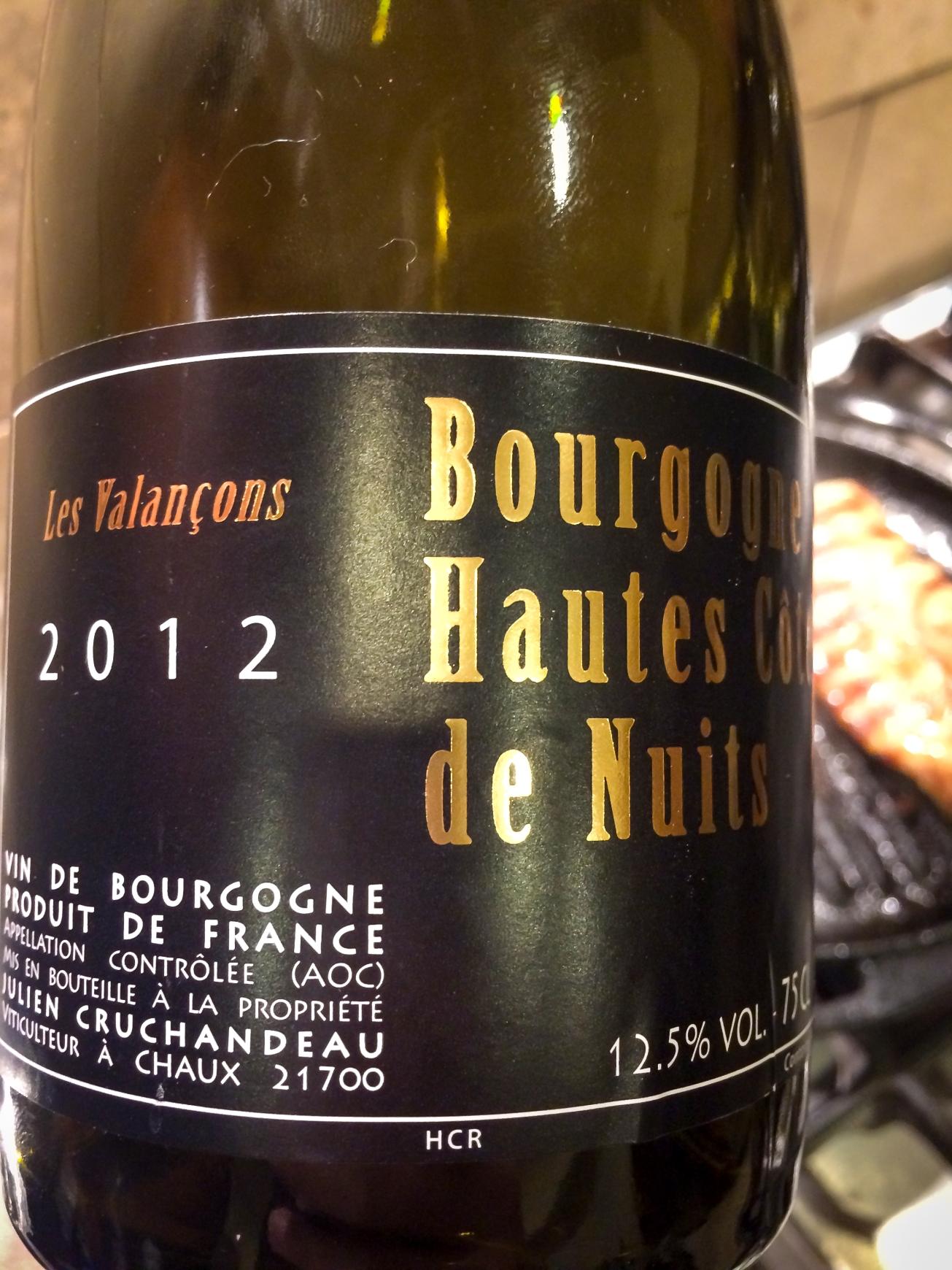 2012 Domaine Cruchandeau Bourgogne Hautes Côtes de Nuits Les Valancons