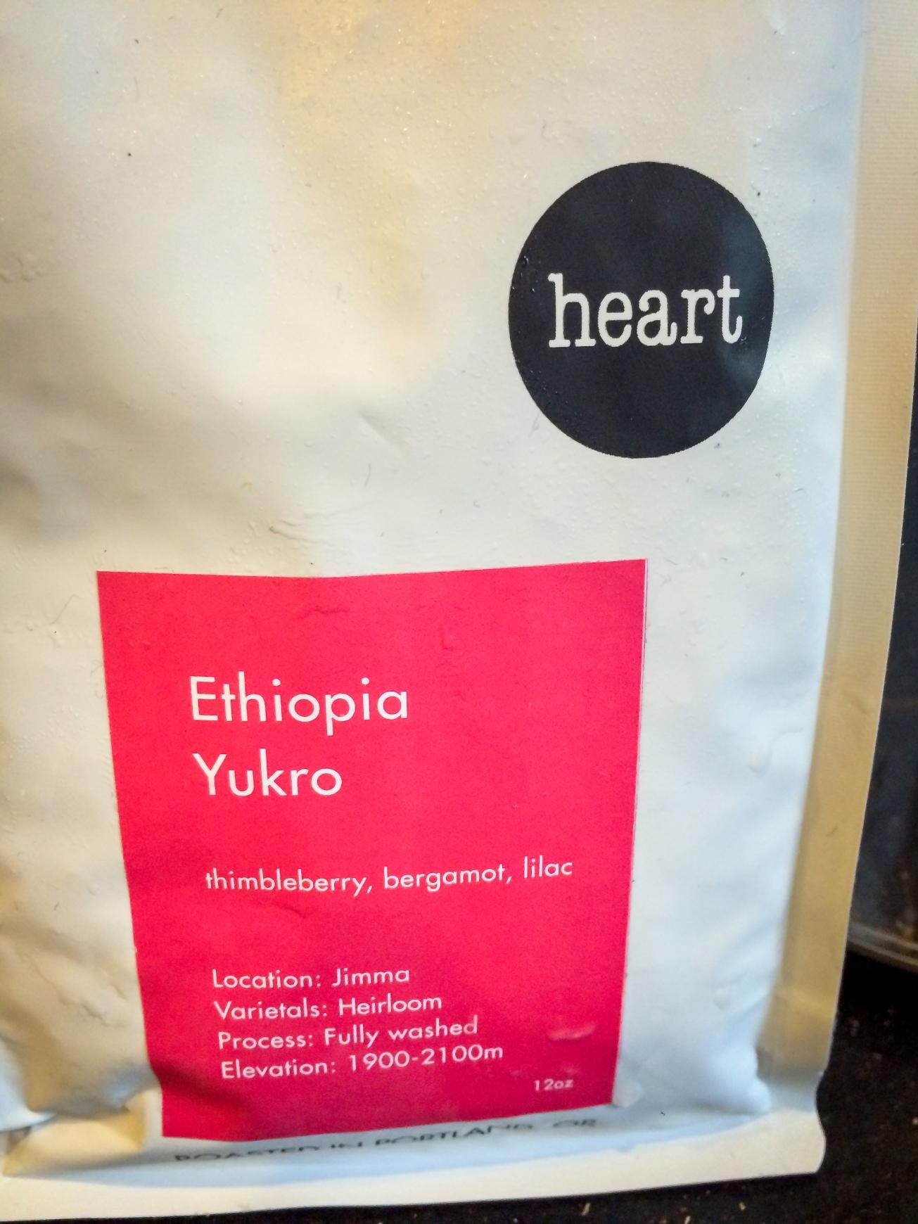 Heart Roasters Ethiopia Yukro