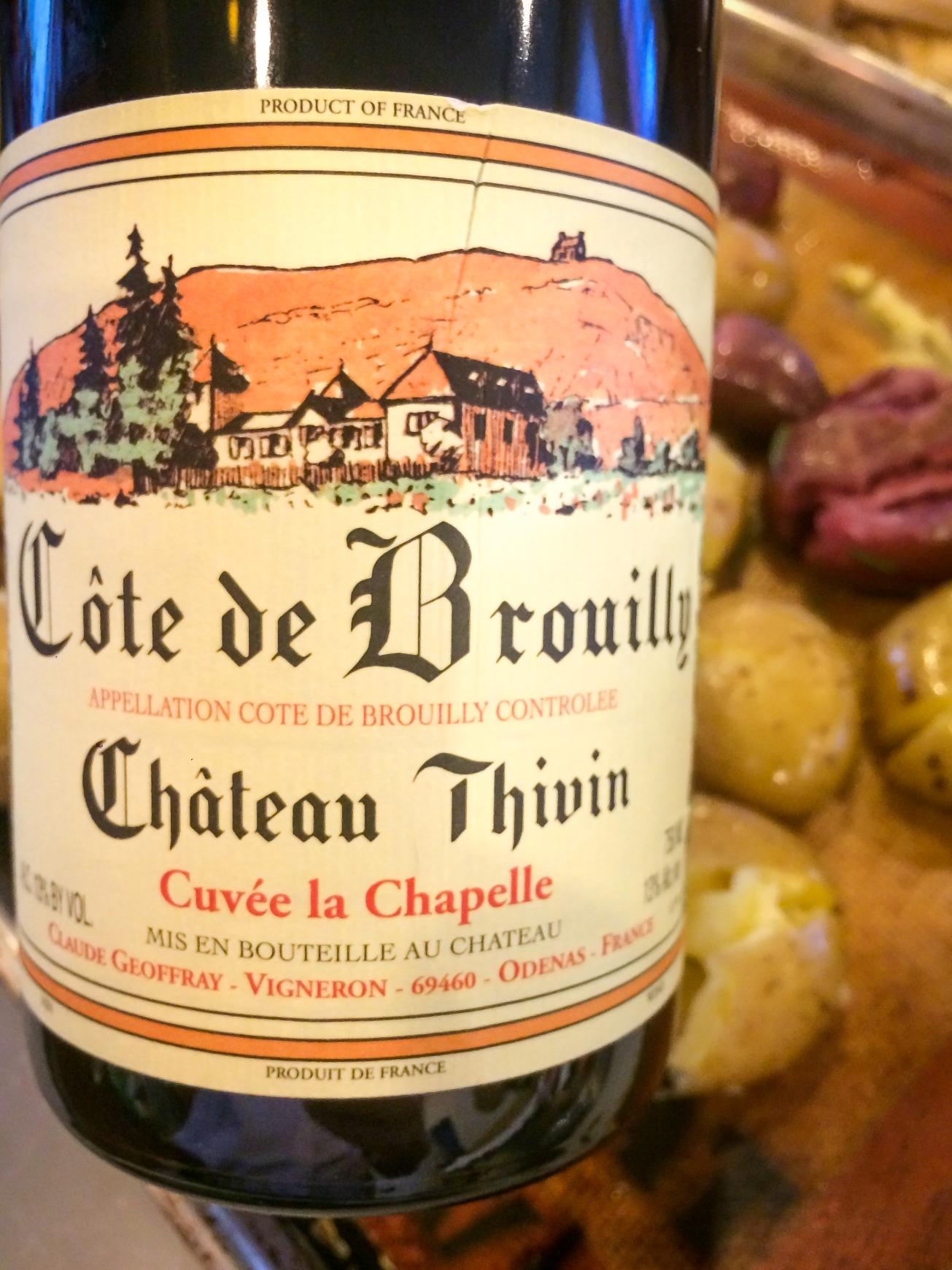 2013 Château Thivin Côte de Brouilly Cuvée La Chapelle