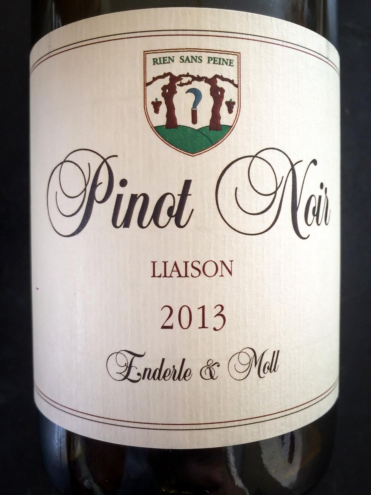 2013 Enderle & Moll Pinot Noir Liaison