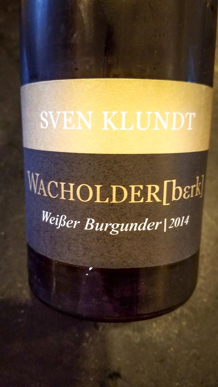 2014 Sven Klundt Weissburgunder Wacholderberg