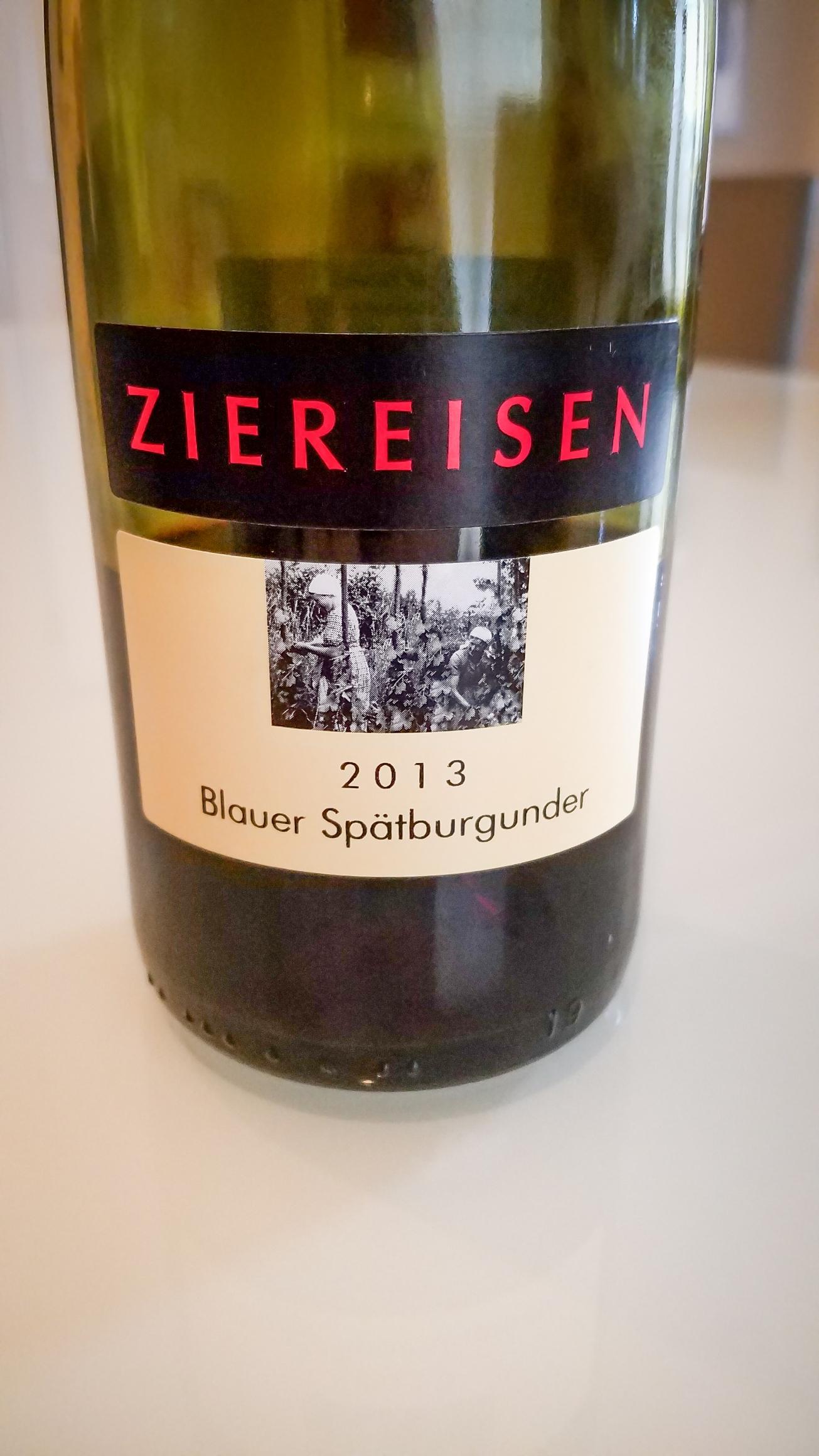 2013 Ziereisen Blauer Spätburgunder