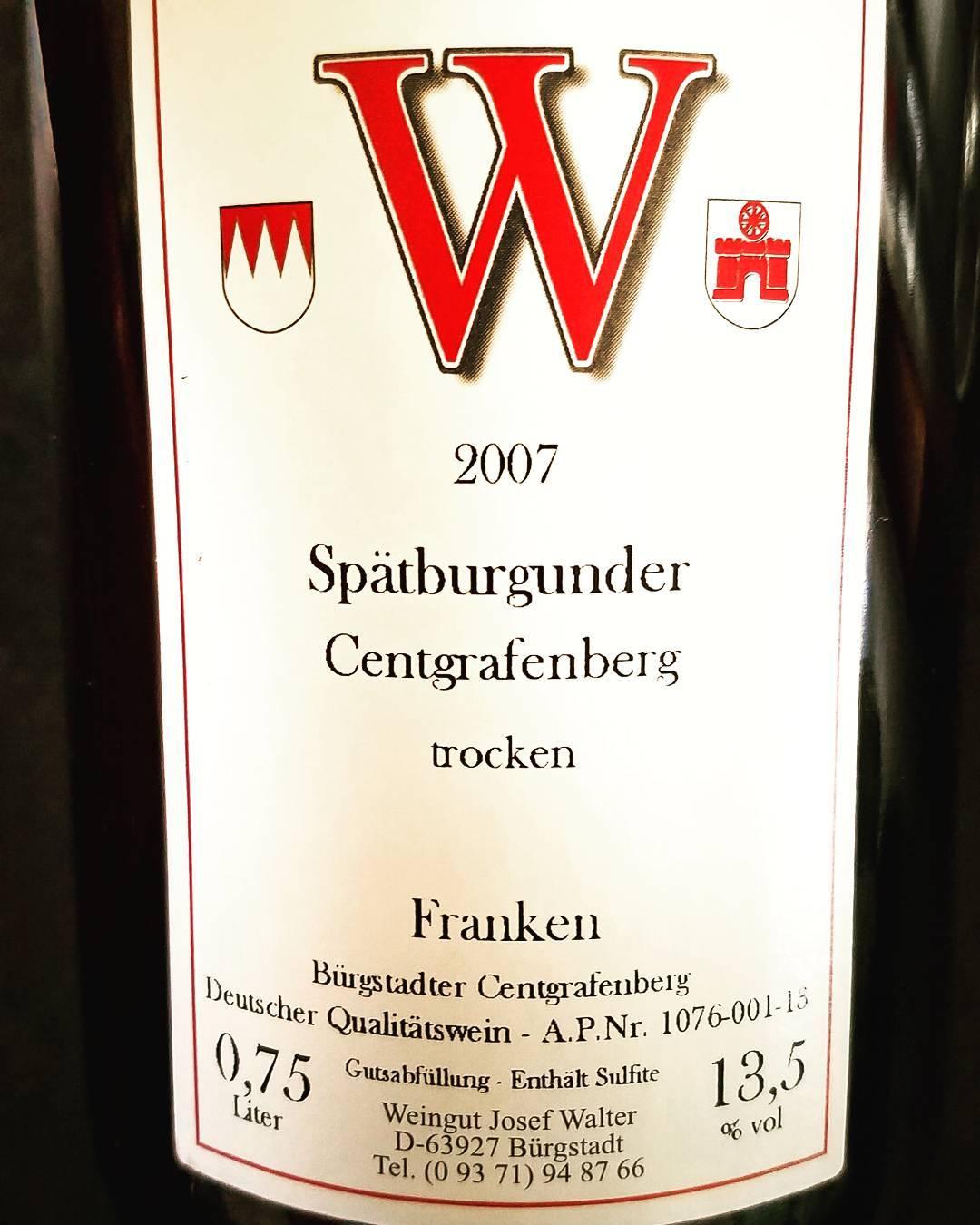 """2007 Josef Walter Bürgstadter Centgrafenberg Spätburgunder """"J"""" trocken"""