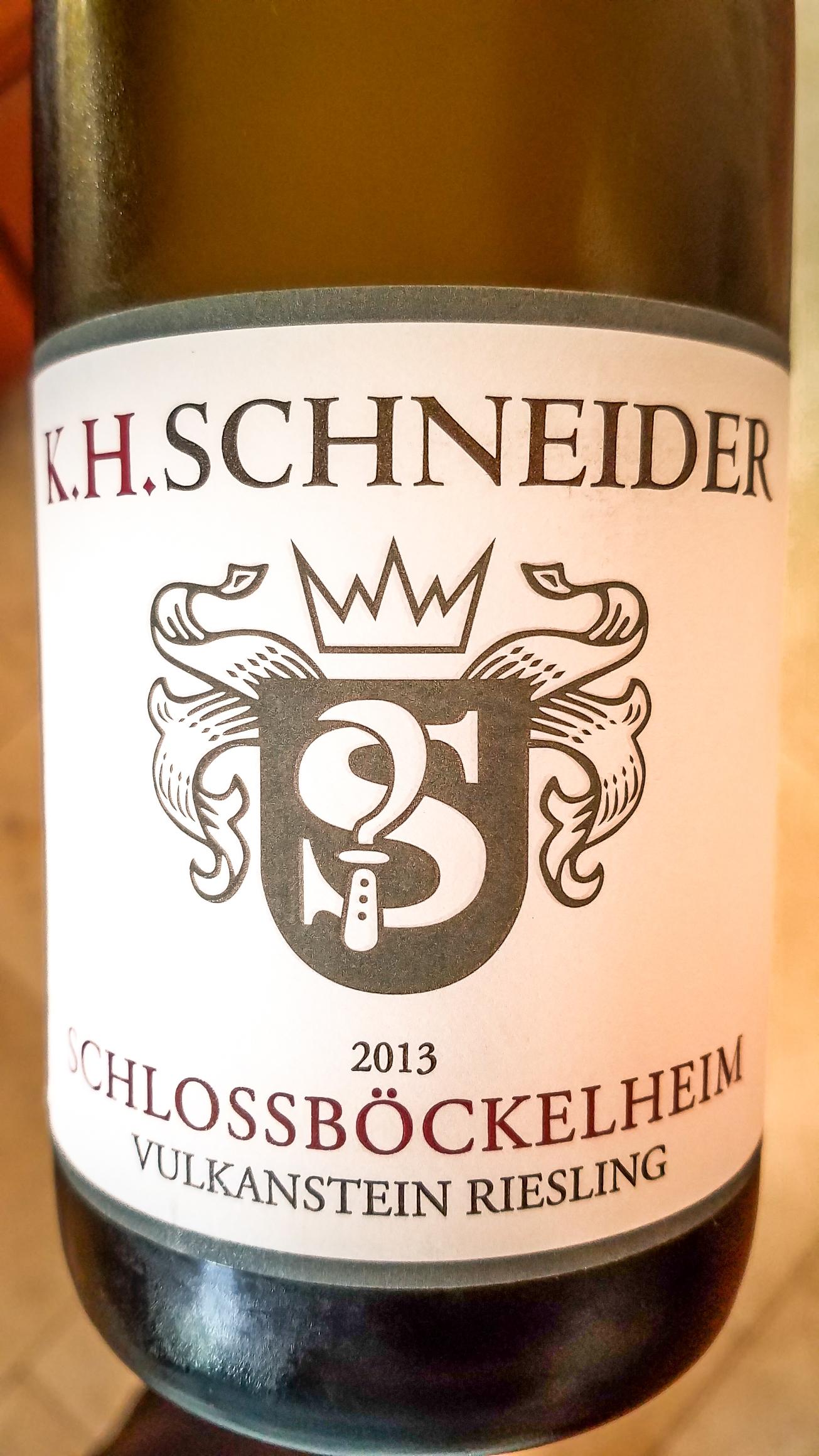 2013 Karlheinz Schneider Riesling Schlossböckelheim Vulkanstein