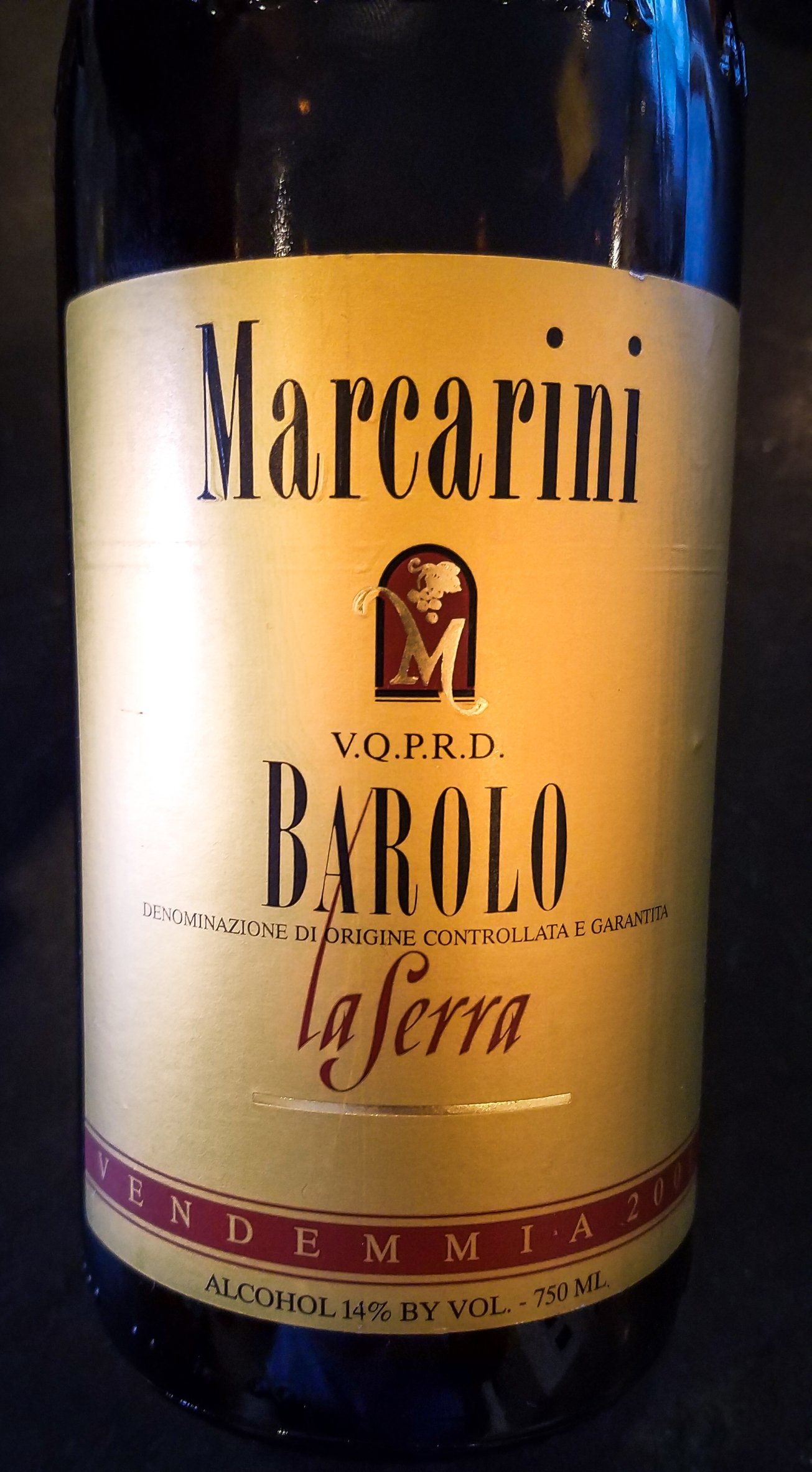 2001 Marcarini Barolo La Serra