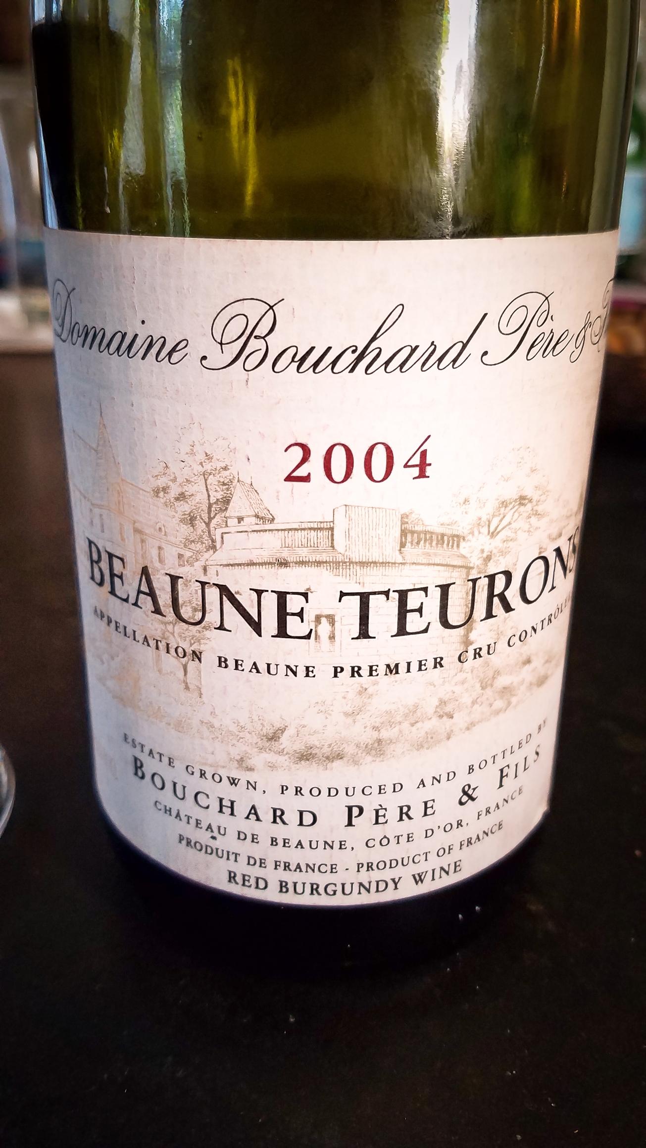 2004 Bouchard Père et Fils Beaune 1er Cru Teurons