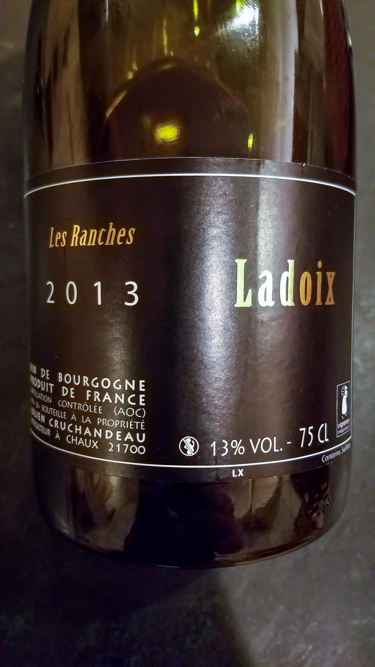 2013 Domaine Cruchandeau Ladoix Les Ranches