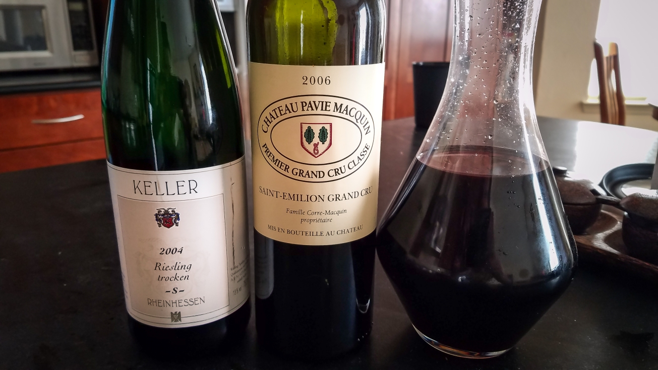 2004 Keller Riesling Trocken -S- and 2004 Château Pavie Macquin