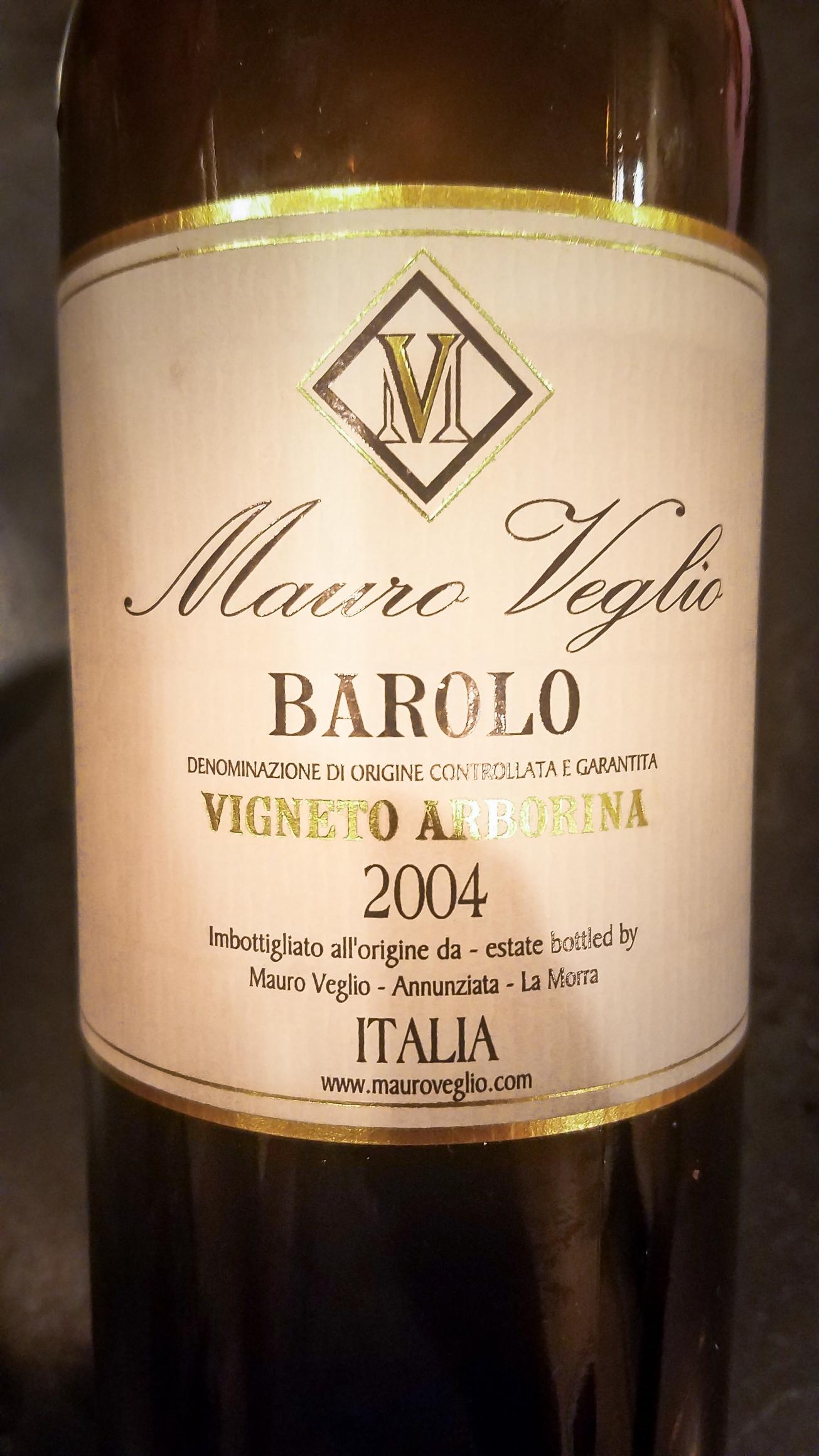 2004 Mauro Veglio Barolo Vigneto Arborina