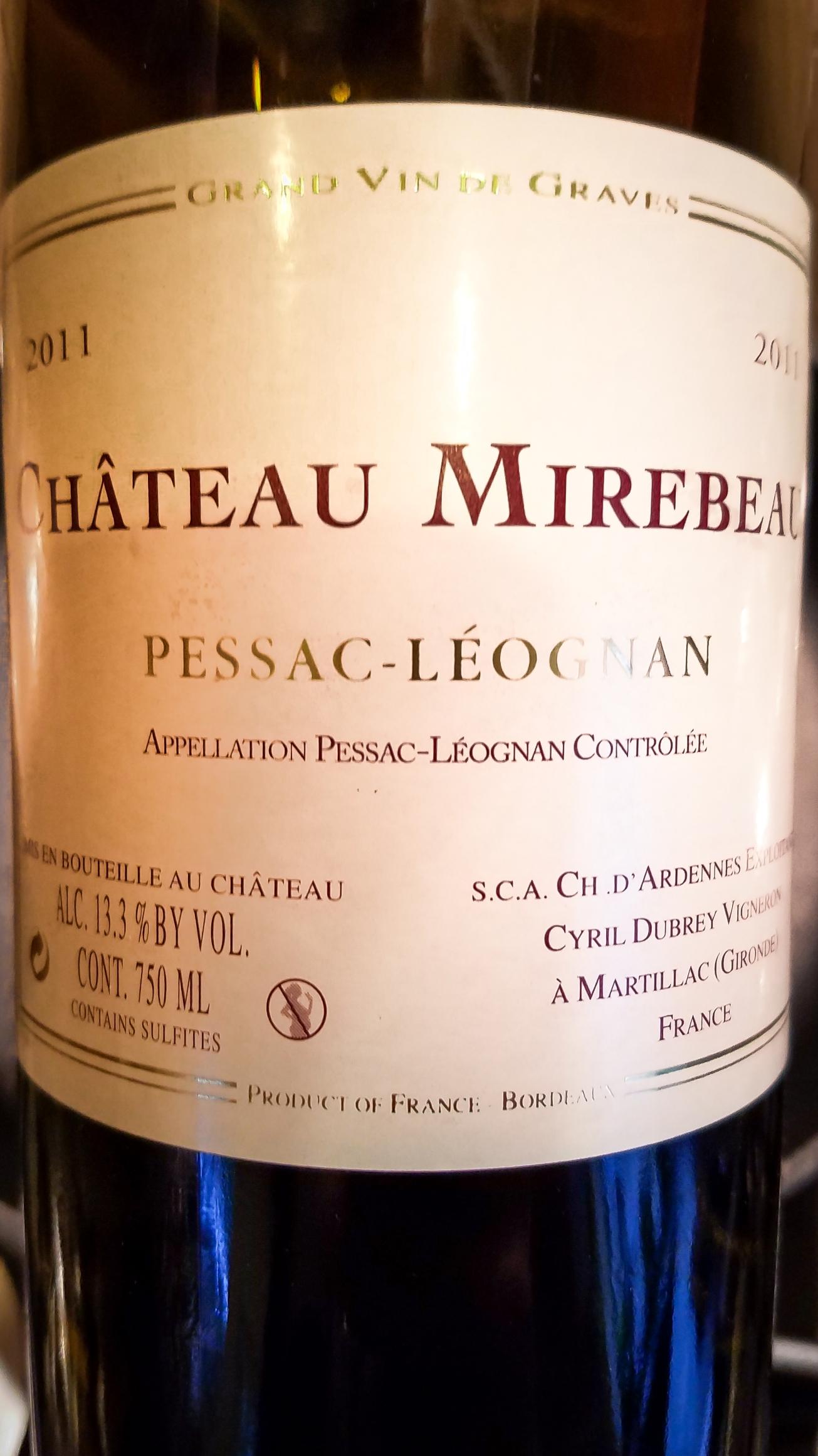 2011 Château Mirebeau