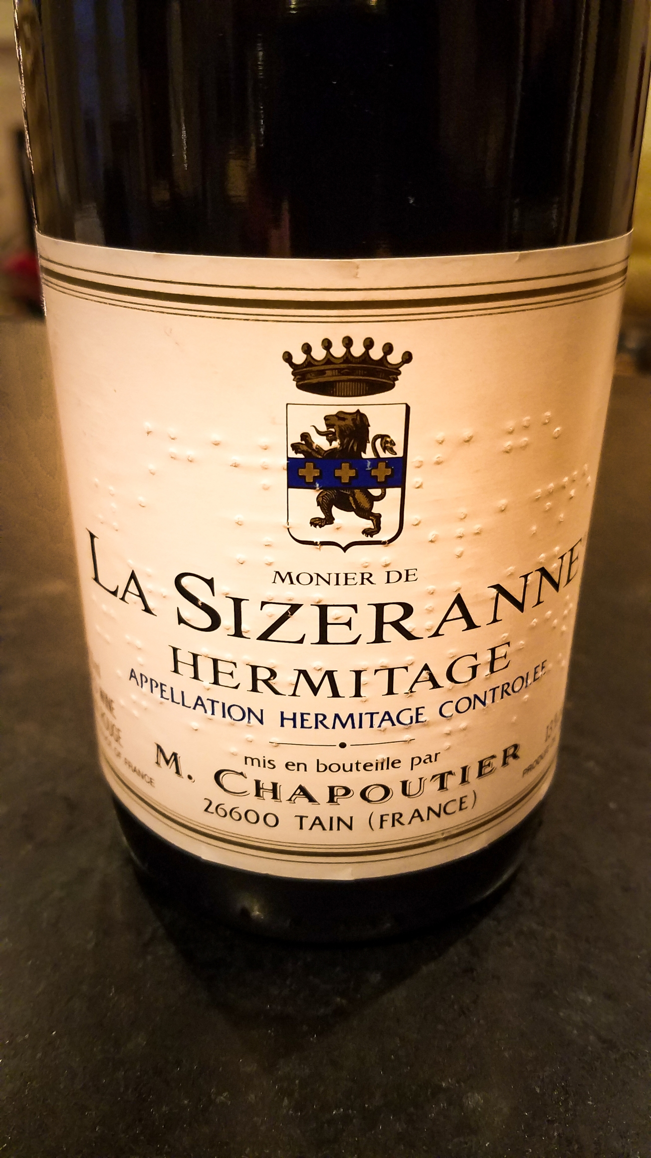 1998 M. Chapoutier Hermitage La Sizeranne