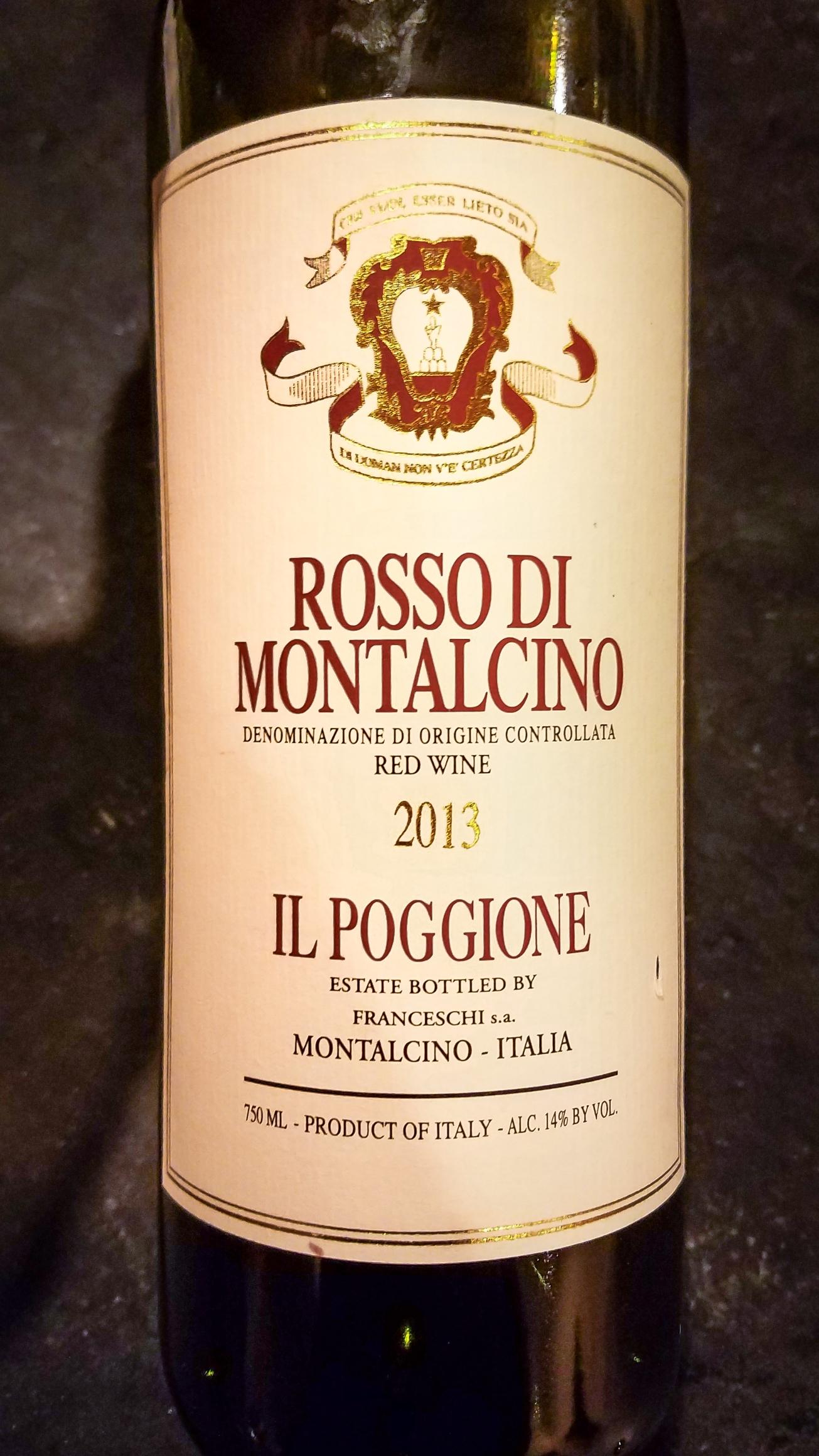 2013 Il Poggione (Proprietá Franceschi) Rosso di Montalcino