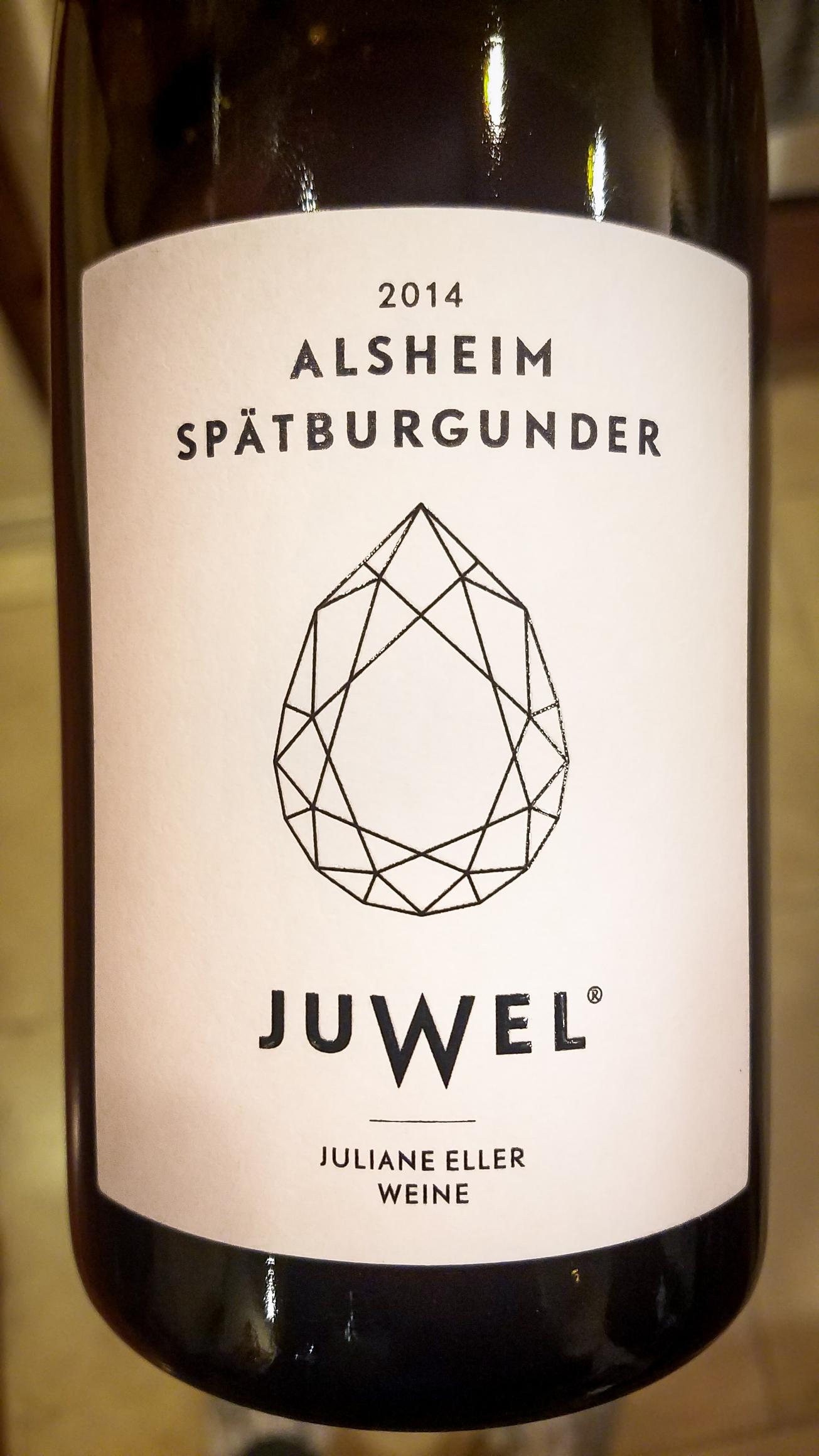2014 Juliane Eller Alsheim Spätburgunder Juwel