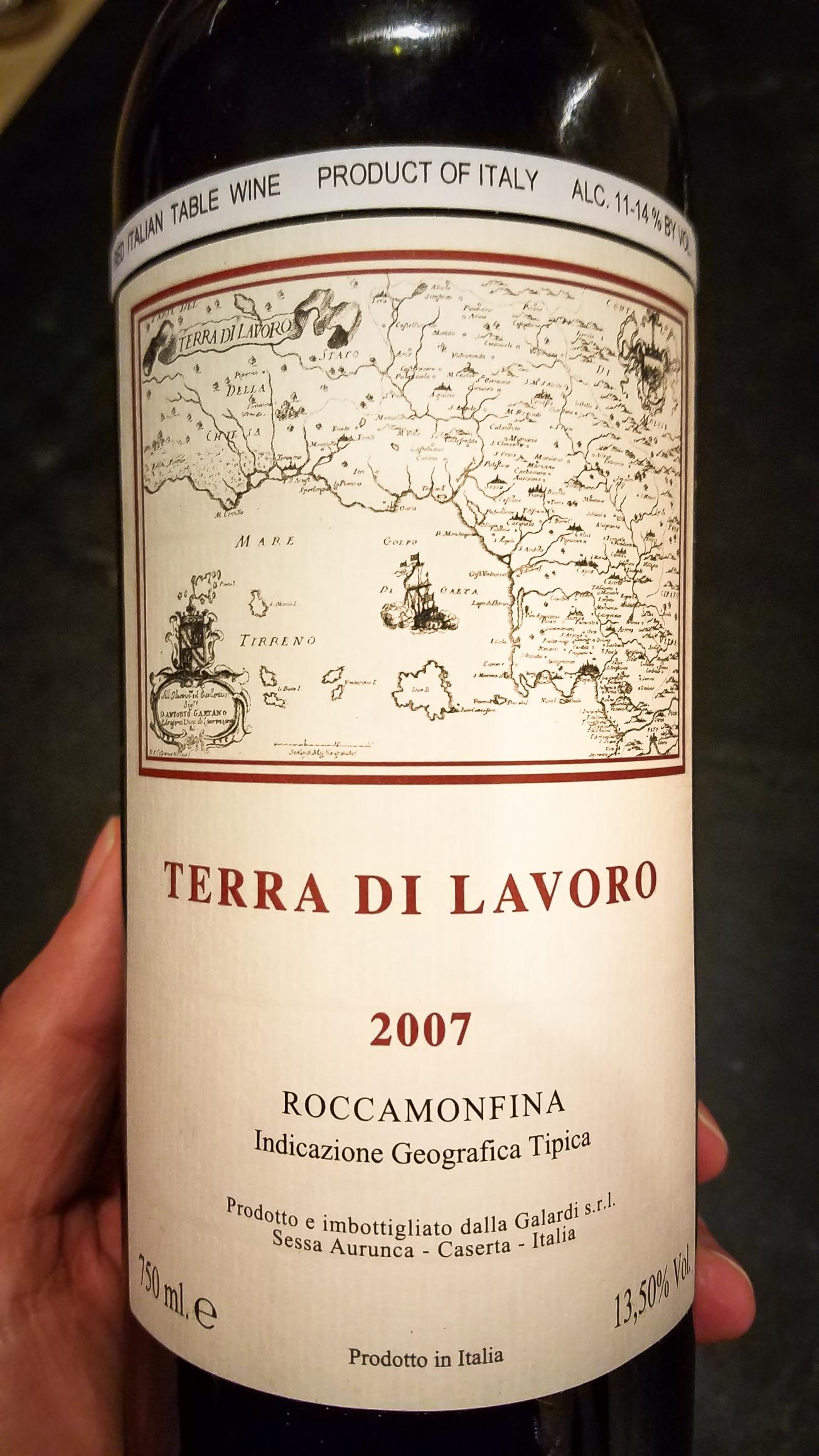 2007 Fattoria Galardi Terra di Lavoro Roccamonfina IGT