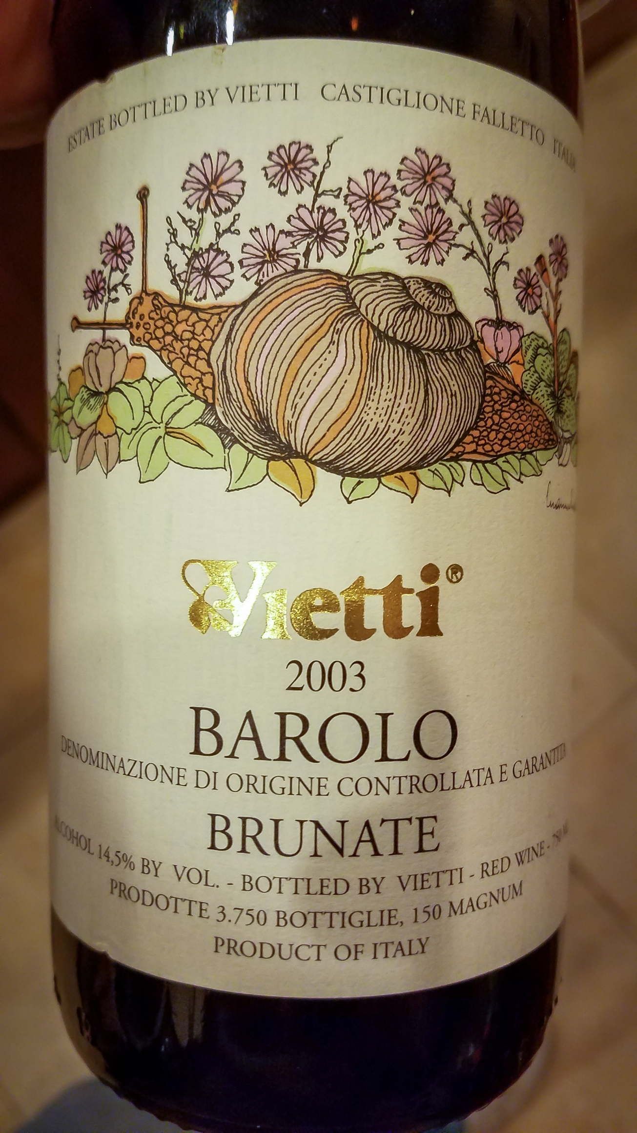 2003 Vietti Barolo Brunate