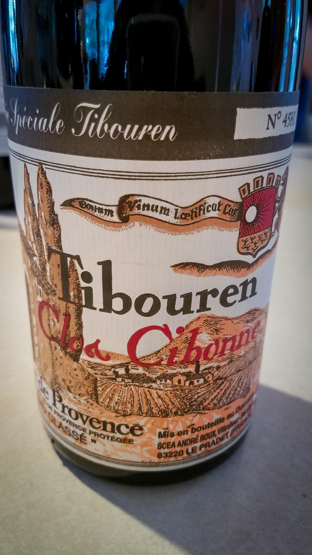 2014 Clos Cibonne Tibouren Côtes de Provence Cuvée Spéciale