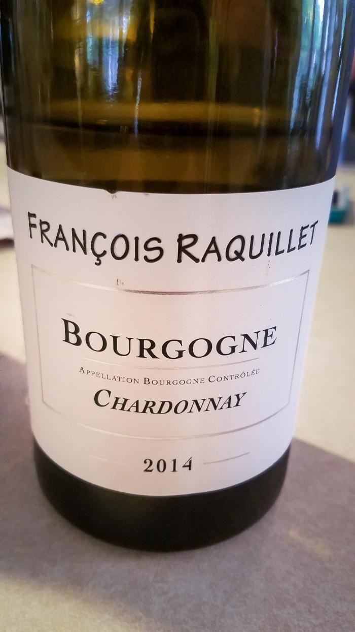 2014 François Raquillet Bourgogne Blanc