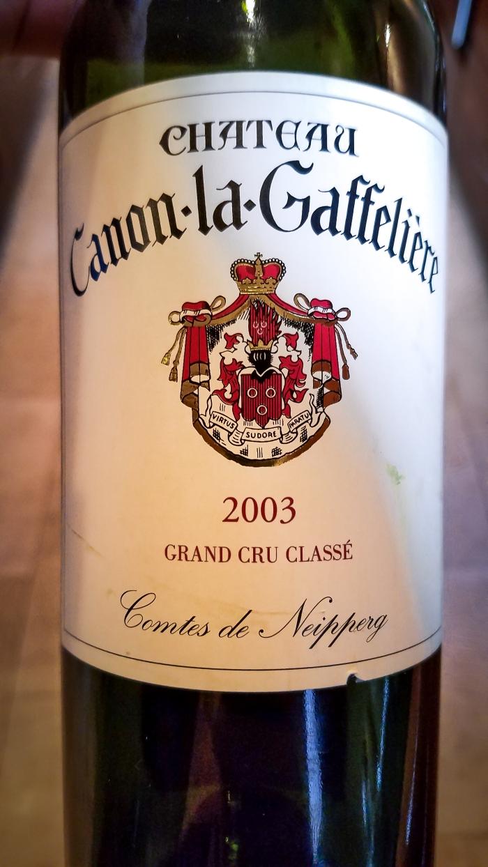 2003 Château Canon-la-Gaffelière