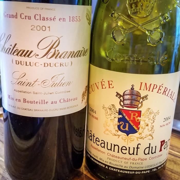 2001 Château Branaire (Duluc-Ducru) & 2004 Domaine Raymond Usseglio & Fils Châteauneuf-du-Pape Cuvée Impériale
