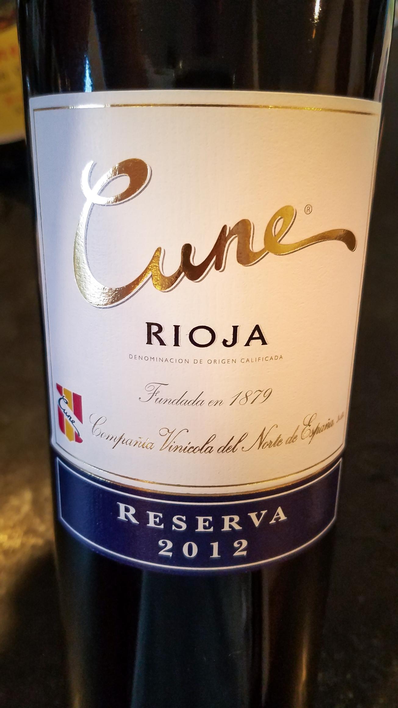 2012 C.V.N.E. (Compañía Vinícola del Norte de España) Rioja Cune Reserva