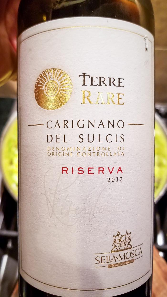 2012 Sella & Mosca Carignano del Sulcis Riserva Terre Rare