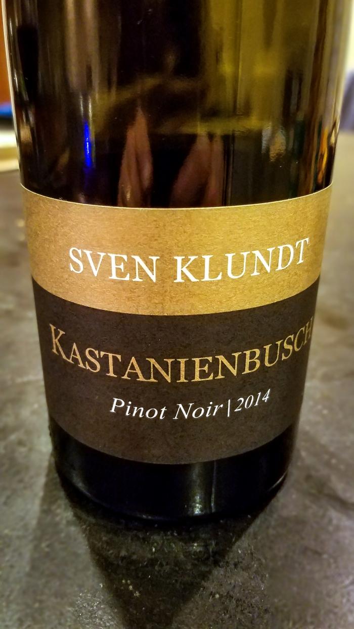 2014 Sven Klundt Birkweiler Kastanienbusch Pinot Noir