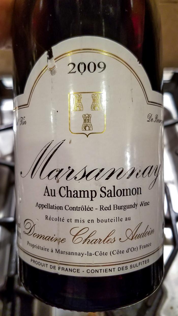 2009 Domaine Charles Audoin Marsannay Champs Salomon