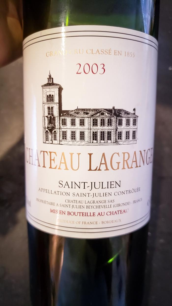 2003 Château Lagrange (St. Julien)