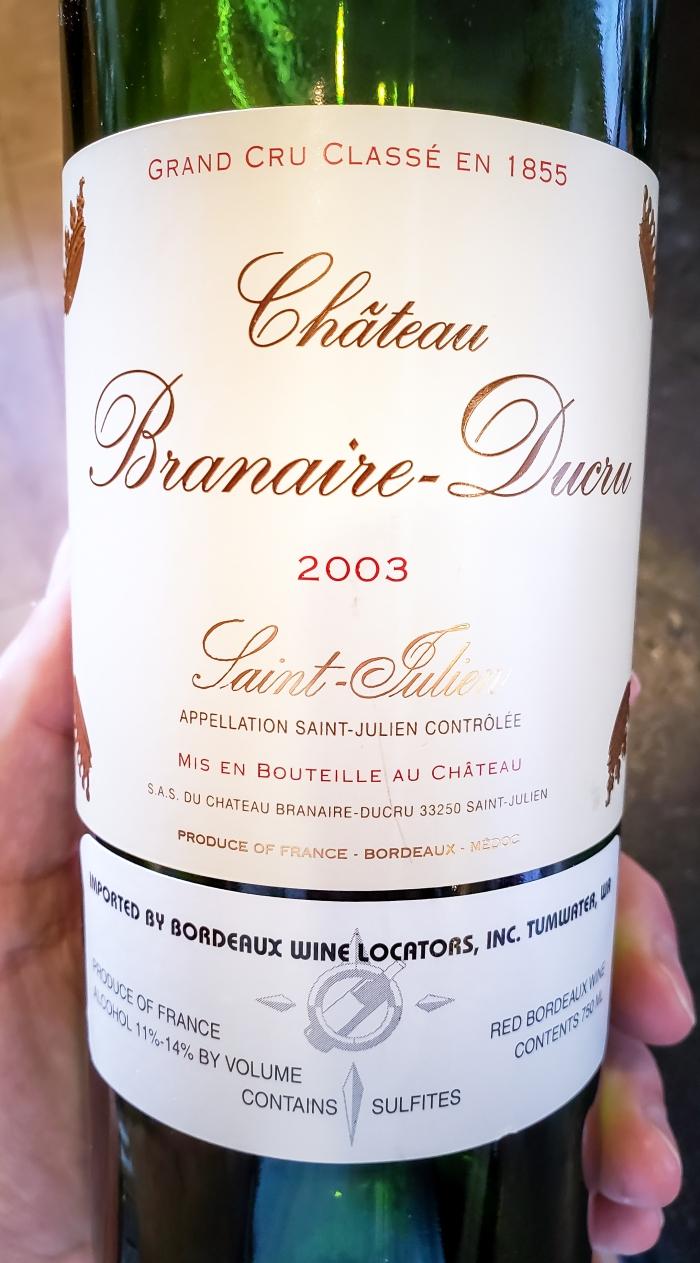 2003 Château Branaire-Ducru