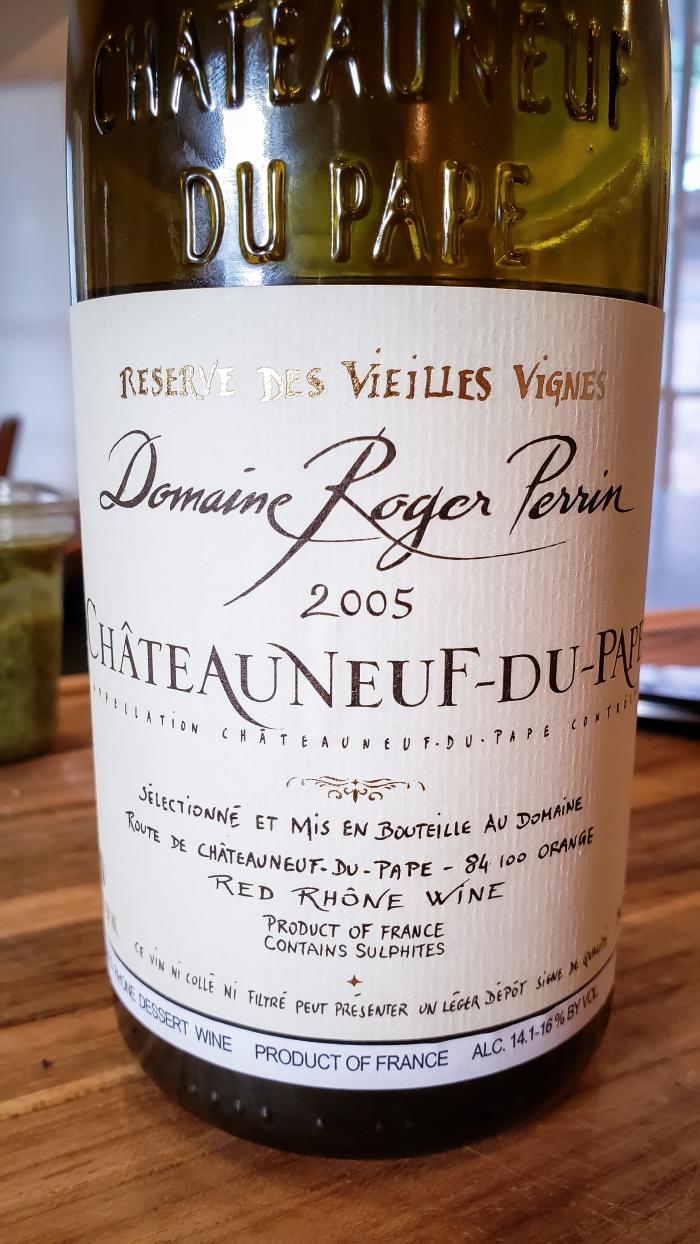 2005 Domaine Roger Perrin Châteauneuf-du-Pape Reserve des Vieilles Vignes