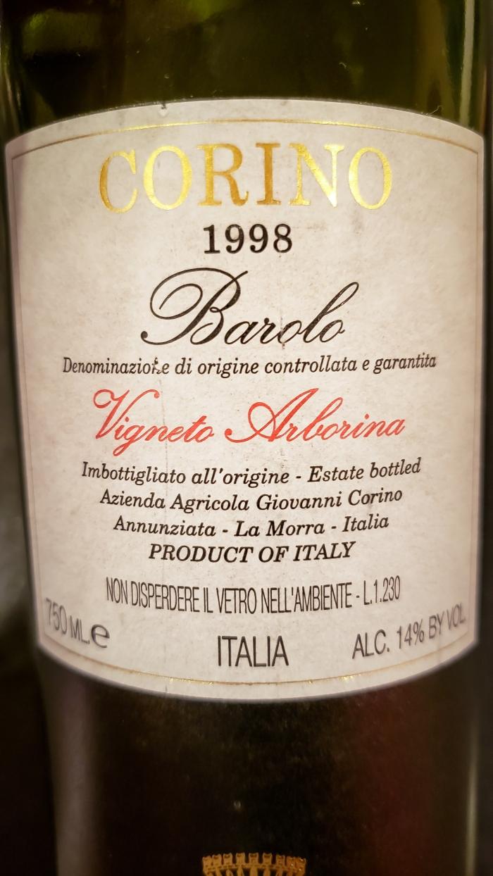 1998 Giovanni Corino Barolo Vigneto Arborina